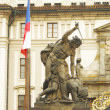Statue at Entrance Gate of the Prague Castle — Stock Photo