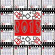 A calendar on 2013 is English executed as shots on a film — Stock Photo