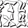 Stock Vector: Vector graffiti alphabet part 3