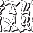 Vector parte alfabeto graffiti 3 — Vector de stock
