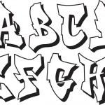 Vector graffiti alphabet part 1 — Stock Vector