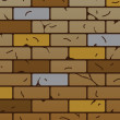 Vector brick wall pattern — Stock Vector