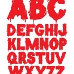 Vector grunge font alphabet — Stock Vector