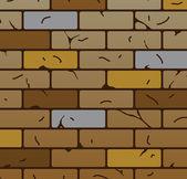 Vector brick wall pattern — Stock Vector