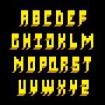 3d font type. Vector alphabet — Stock Vector
