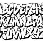 Classic street art graffiti font type. Vector alphabet — Stock Vector #35359113