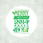 Merry Christmas and happy new year greeting card. typographic design. vector — Vettoriale Stock