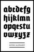 Vector gothic font alphabet type — Stock Vector