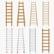 Set of ladders. — Stock Vector #12564764