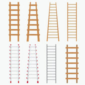 Set of ladders. — Stock Vector