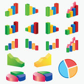 Set of charts. — Stock Vector