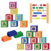 Children toys. — Stock Vector