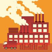 Air pollution. — Stock Vector