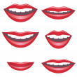 Royalty-Free Stock Vector Image: Mouths.