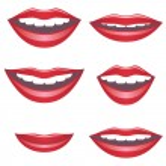 Mouths. — Cтоковый вектор