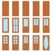 Set of the doors. — Stock Vector