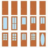 Set of the doors. — Stock Vector