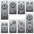 Set of audio speakers. — Stock Vector