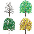 Season trees. - Stock Vector