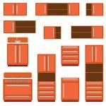 Kitchen furniture. — Stock Vector