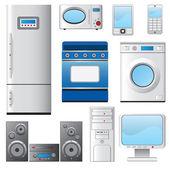 Set of house appliances. — Stock Vector