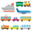 Cartoon vehicles. - Stock Vector
