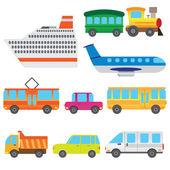 Cartoon vehicles. — Stock Vector