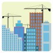 Stock Vector: Construction of buildings.
