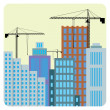 Construction of buildings. - Stock Vector