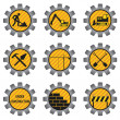 Stock Vector: Construction icons.