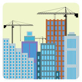 Construction of buildings. — Stock Vector