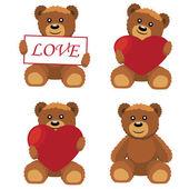 Toy bears. — Stock Vector
