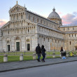 The leaning tower and the baptistery in Pisa — Stock Photo