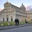 Stock Photo: The leaning tower and the baptistery in Pisa