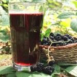 Постер, плакат: Glass of blackberry juice