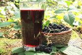 Glass of blackberry juice — Stock Photo