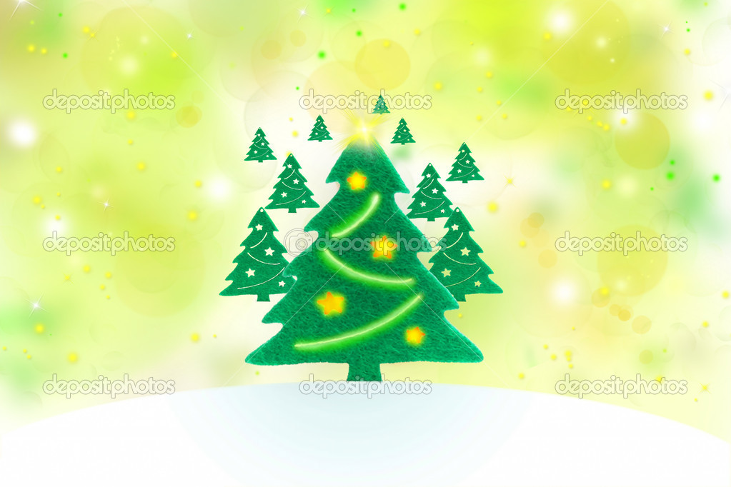 Decorated christmas tree, winter holidays concept — Stock Photo #14894169