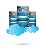 Servers datacenter,cloud computing concept — Stock Vector