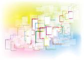 Abstract rectangles interface — Stock Vector