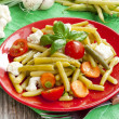 Haricot beans salad with vegetables — 图库照片