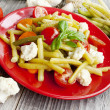 Stock Photo: Haricot beans salad with vegetables