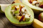 Salada de frutas no melão — Foto Stock