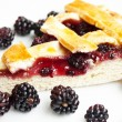 Blackberry cake slice — Stock Photo