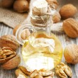 Stock Photo: Walnut Oil Bottle