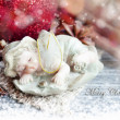 Christmas sleeping angel decoration — Stock Photo