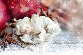 Christmas sleeping angel decoration — Stock Photo