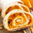 Pumpkin Cake Roll — Stock Photo