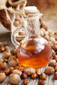 Hazelnut Oil Bottle — Stock Photo