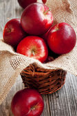 Red Apples Basket — Stock Photo