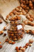 Roasted Hazelnuts Jar — Stock Photo